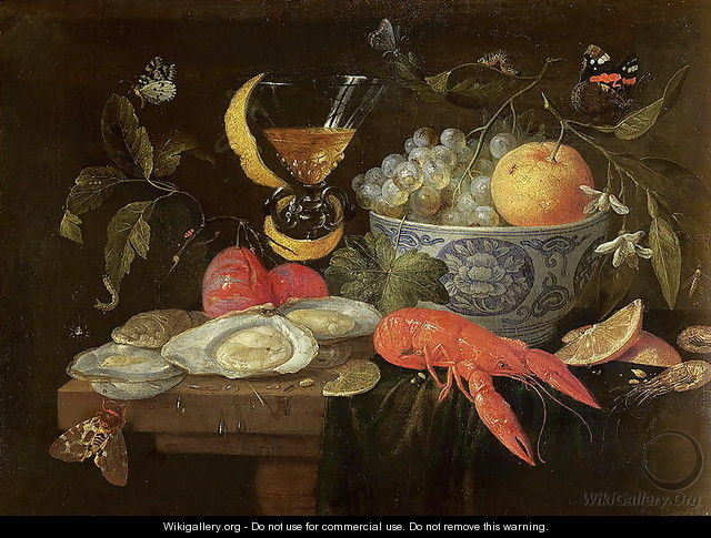 Still Life with Fruit and Shell Fish - Jan van Kessel