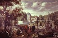Garden Scene with Fountain - Jan van Kessel