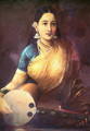 Lady with Swarbat - Raja Ravi Varma