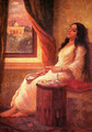 In Contemplation - Raja Ravi Varma