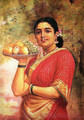 The Maharashtrian Lady - Raja Ravi Varma