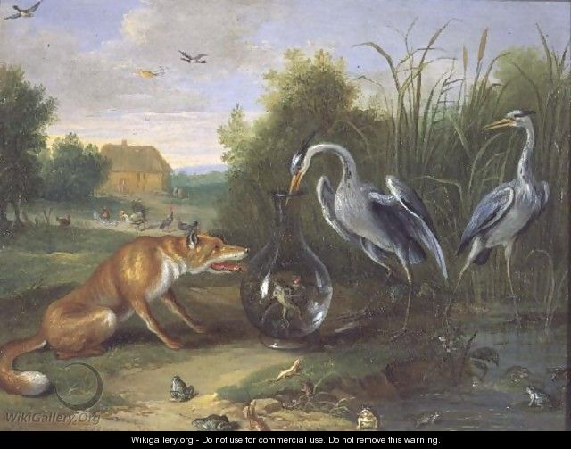 The Heron and the Fox - Jan van Kessel