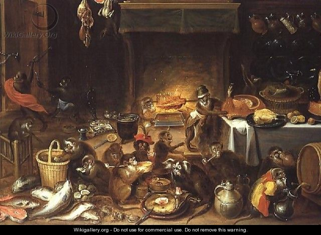 Monkeys Feasting - Jan van Kessel