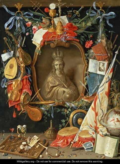 Ecclesia Surrounded by Symbols of Vanity - Jan van Kessel