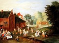 Peasants Feasting in a Village - Jan van Kessel