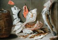 Still Life with Fish - Jan van Kessel