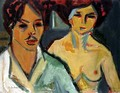 Self Portrait with Model - Ernst Ludwig Kirchner