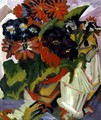 Bouquet of Flowers with a Sugar Bowl - Ernst Ludwig Kirchner