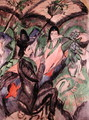 Couple Under a Japanese Umbrella - Ernst Ludwig Kirchner