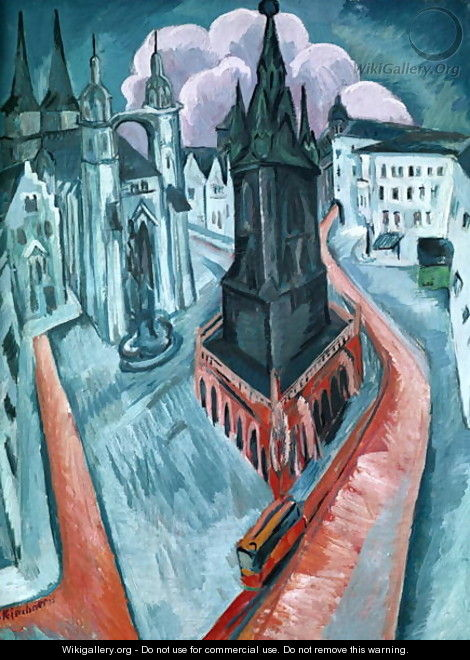 The Red Tower in Halle - Ernst Ludwig Kirchner