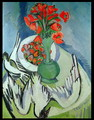 Still Life With Seagulls Poppies and Strawberries - Ernst Ludwig Kirchner