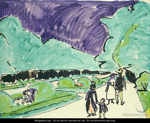 Entrance to a large garden in Dresden - Ernst Ludwig Kirchner