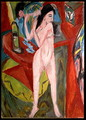 Nude Woman Combing Her Hair - Ernst Ludwig Kirchner