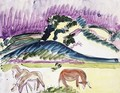 Cows and Hills - Ernst Ludwig Kirchner