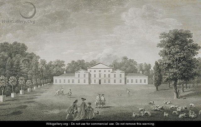 View of the Palace at Kew from the Lawn - (after) Kirby, John Joshua