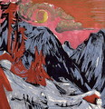 Mountains in Winter - Ernst Ludwig Kirchner