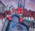Red Elisabeth Riverbank Berlin - Ernst Ludwig Kirchner