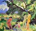 Nudes Playing under Tree - Ernst Ludwig Kirchner