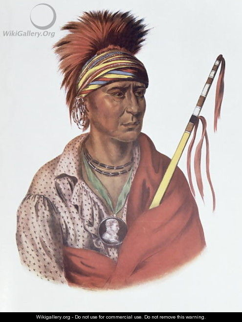 Notchimine or No Heart an Iowa Chief - (after) King, Charles Bird