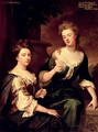 Sarah Duchess of Marlborough 1660-1744 playing cards with Lady Fitzharding - Sir Godfrey Kneller