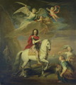 William III on a grey charger observed by Neptune Ceres and Flora Mercury in the sky and Astrea - Sir Godfrey Kneller