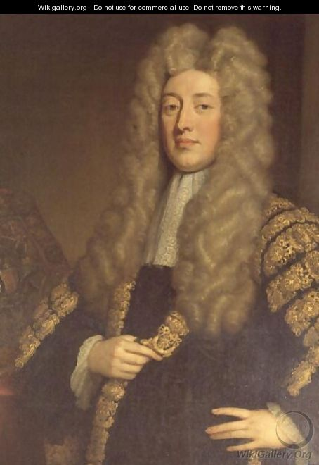 Simon 1st Lord Harcourt Chancellor to Queen Anne - Sir Godfrey Kneller