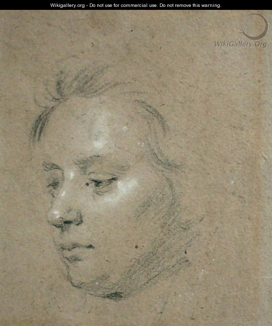 Sketch of the Head of as Young Boy - Sir Godfrey Kneller