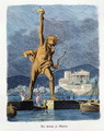 The Colossus of Rhodes from a series of the Seven Wonders of the Ancient World - Ferdinand Knab