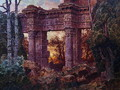 Roman Ruin at Twilight - Ferdinand Knab