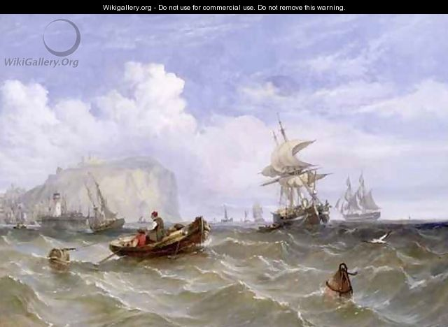 Pilot Boats off Dover - William Adolphus Knell