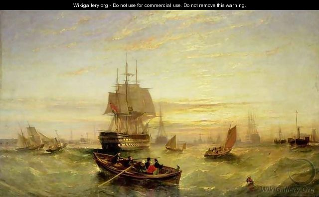 Entering Portsmouth Harbour - William Adolphus Knell