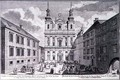 View of the Jesuitenkirche and Dr Ignaz Seipal Platz in Vienna - Salomon Kleiner