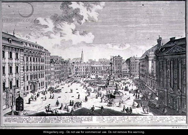 View of a square in Vienna - (after) Kleiner, Salomon
