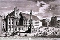 View of the Am Hof square showing the Mariensaule or Column of Our Lady - (after) Kleiner, Salomon