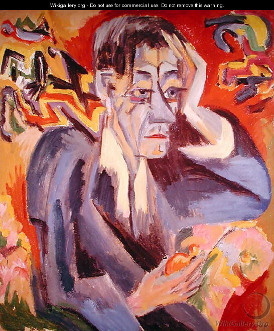 Portrait of the Poet Frank - Ernst Ludwig Kirchner