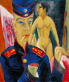 Self Portrait of a Soldier - Ernst Ludwig Kirchner