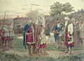The Grand Duke Meeting with the People of a Slav Town in the 9th century - Aleksei Danilovich Kivshenko