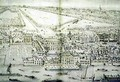 A Birds Eye View of Whitehall Palace - Leonard Knyff