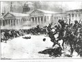 First Blood in the Revolution Repulsing the Strikers with Sword Whip and Gunshot opposite the Admiralty Building St Petersburg - H.W. Kockkock