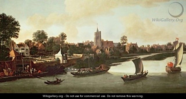 Chiswick from the River - Jacob Knyff