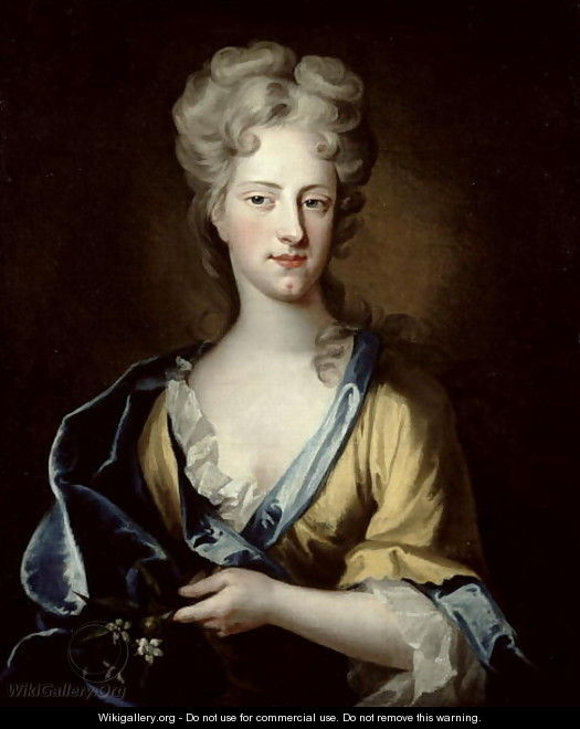 Portrait of Abigail Hill 1734 Lady Masham - (after) Kneller, Sir Godfrey