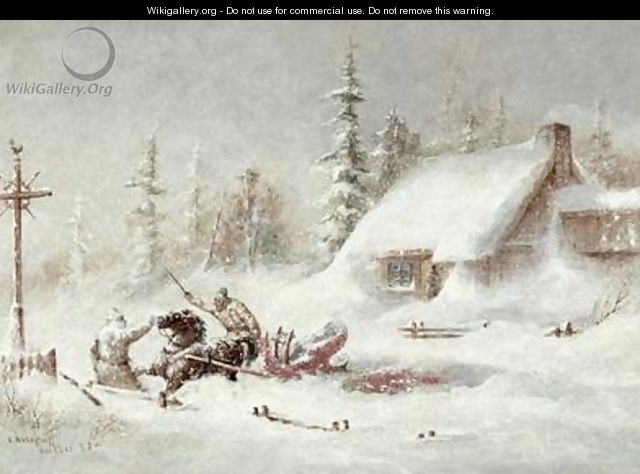 The Blizzard - Cornelius Krieghoff