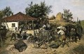 Peasants Loading a Cart - Pawel Kowalewsky