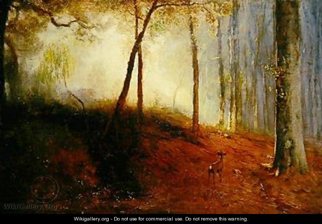 Deer in a Wood - Louis Kolitz