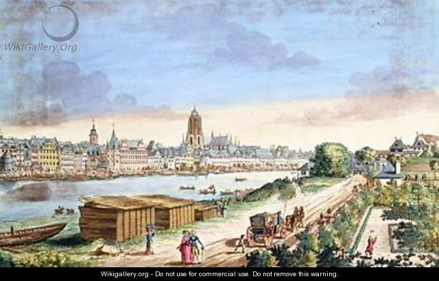 View of the Town of Frankfurt facing south - Johann Jacob Koller