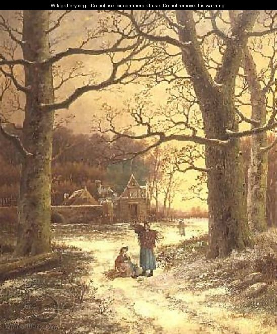 Gathering Winter Fuel - Johannes Hermann Barend Koekkoek