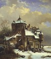 Dutch Winter Scene - Cornelis Kruseman