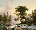 Wolves in a Winter Landscape - Frederick Marianus Kruseman