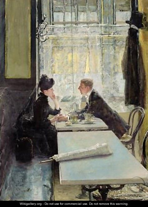 Lovers in a Cafe - Gotthardt Kuehl