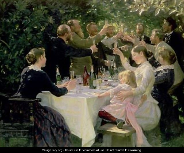 Hip Hip Hurrah Artists Party at Skagen - Peder Severin Kroyer